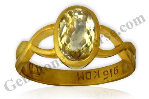 Natural Yellow Sapphire 2.12 carats Gemstoneuniverse.com. Unheated Yellow Sapphire