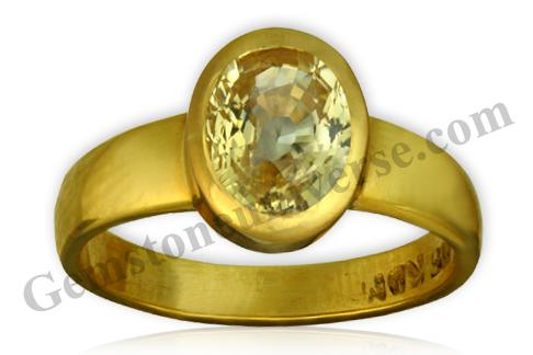 Natural Yellow Sapphire 2.18 carats Gemstoneuniverse.com