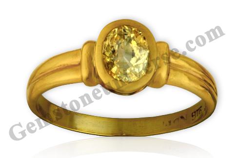 Natural Yellow Sapphire 2.41 carats Gemstoneuniverse.com. Unheated Yellow Sapphire