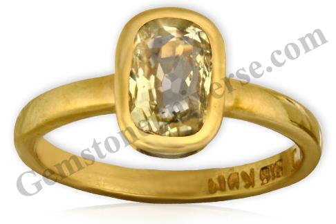 Natural Yellow Sapphire 2.61 carats Gemstoneuniverse.com. Unheated Yellow Sapphire