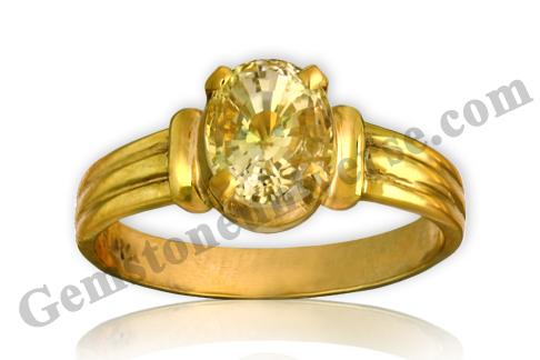 Natural Yellow Sapphire 3.20 carats- Gemstoneuniverse.com