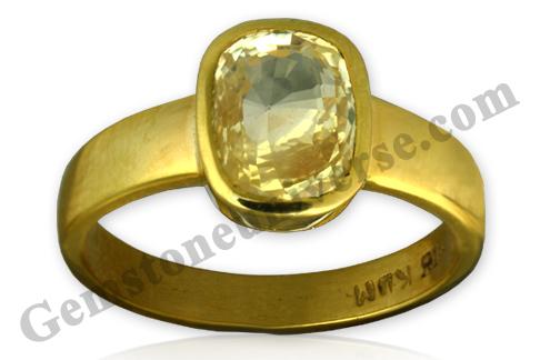 Natural Yellow Sapphire 3.30 carats Gemstoneuniverse.com. Unheated Yellow Sapphire