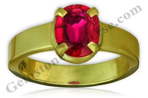 Flawless Unheated Burma Ruby for Harnessing Sun Energy-a Jyotish Gem-Gemstoneuniverse.com