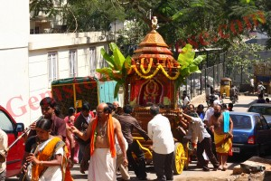 The chariot of Lord Surya being taken out for a procession Gemstoneuniverse