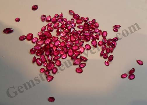 Unheated Mozambique Ruby having delightful transparency. gemstoneuniverse