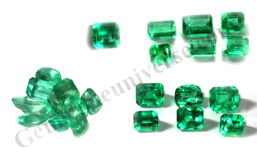 Fine Colombian Emerald Lot. Hermes Uniqa Gemstoneuniverse.com