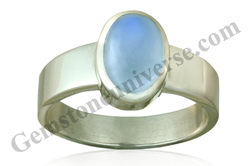Natural Blue moonstone of 2.48 carats Gemstoneuniverse.com