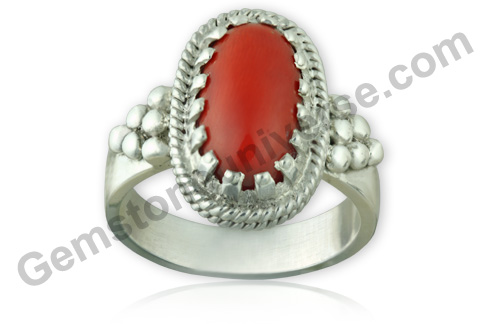 Natural Organic Untreated Red Coral of 5.73 carats Gemstoneuniverse.com