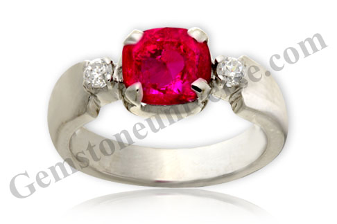 Natural Tanzania Ruby of 1.89 Carats Gemstoneuniverse.com