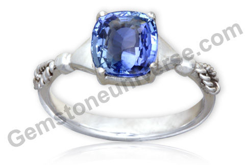 Natural Unheated Blue Sapphire of 3.29 Carats Gemstoneuniverse.com