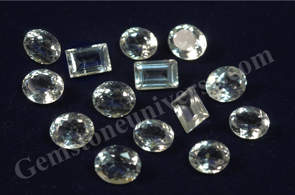 Natural White Topaz Brazil Gemstoneuniverse.com