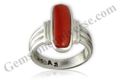 Natural and Untreated Red Coral 4.42carats Gemstoneuniverse.com