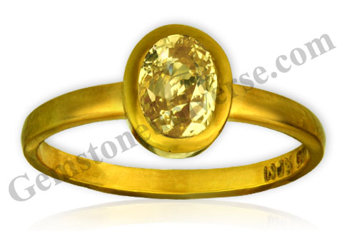 Natural and Untreated Yellow Sapphire 2.40 carats Gemstoneuniverse.com
