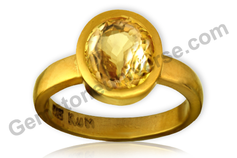 Natural and Untreated Yellow Sapphire 3.09 carats Gemstoneuniverse.com