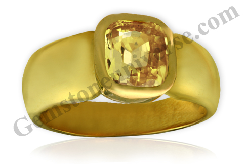 Natural and Untreated Yellow Sapphire 3.14 carats Gemstoneuniverse.com