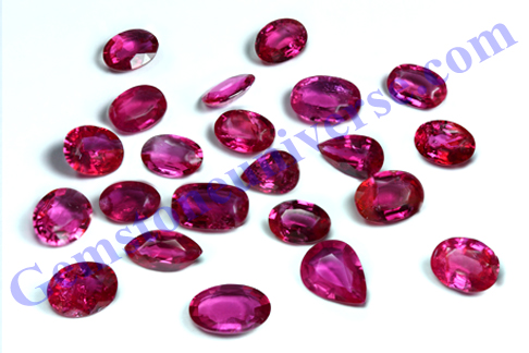 Unheated Natural Ruby from Mozambique for Sun energies. Gemstoneuniverse.com