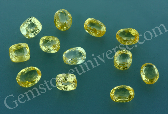 Unheated Yellow Sapphire New Lot. March 2011 special.Gemstoneuniverse