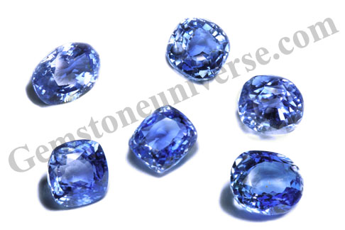 Unheated Cornflower Blue Sapphire lot from Kuruvita/Sri Lanka-Gemstoneuniverse.com