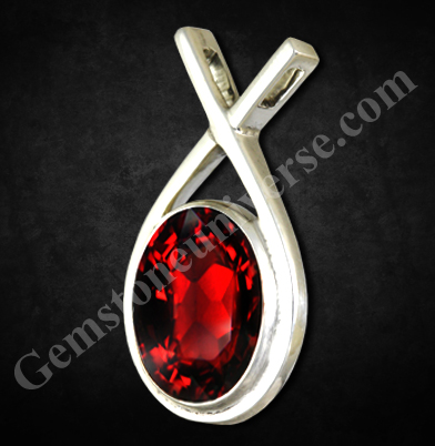 Natural Mozambique Red Garnet of 4.27 carats-The Gem That lit up Noah's Ark.Gemstoneuniverse.com
