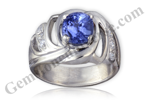 Natural Unheated Blue Sapphire of 2.95 Carats Gemstoneuniverse.com