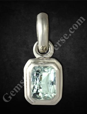 Natural White Sapphire of 1.64 carats Gemstoneuniverse.com
