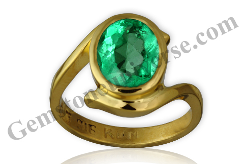 Natural and Unenhanced Colombian Emerald 2.25 carats Gemstoneuniverse.com