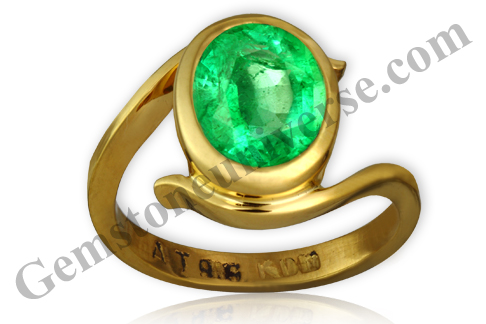 Natural and Unenhanced Zambian Emerald 2.32 carats Gemstoneuniverse.com