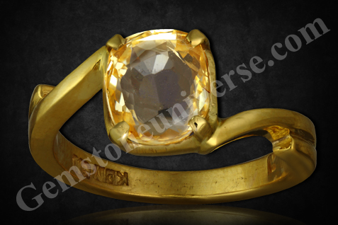 Natural and Untreated Yellow Sapphire 2.81 carats Gemstoneuniverse.com