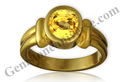 Natural and Untreated Yellow Sapphire 3.54 carats Gemstoneuniverse.com