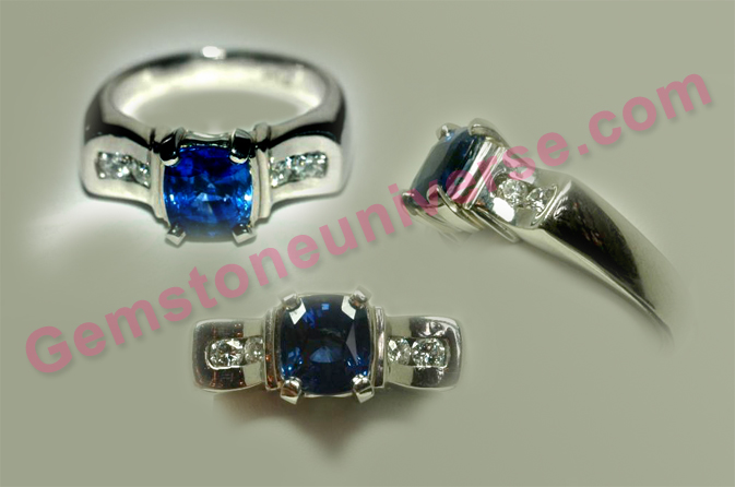 Natural Royal Blue Sapphire of 2.33 carats Gemstoneuniverse.com