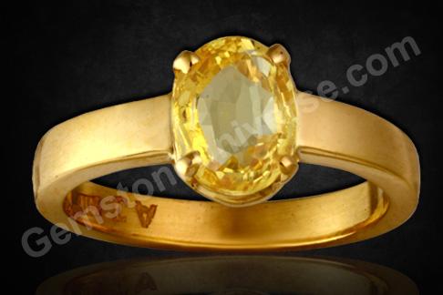Natural Yellow Sapphire 2.59 carats Gemstoneuniverse.com