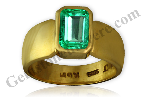Notice the clarity in this emerald ring and compare with the emerald ring given below