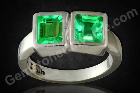 Natural and Unenhanced Colombian Emeralds (2) 2.25 carats Gemstoneuniverse.com