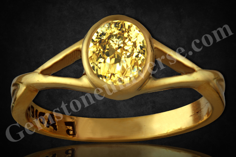 Natural and Untreated Yellow Sapphire 2.06 carats Gemstoneuniverse.com