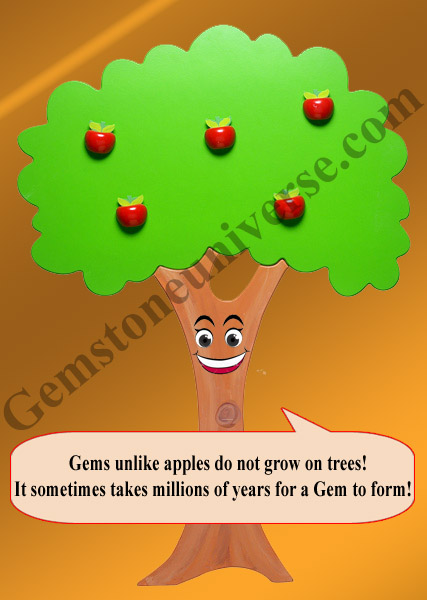 Precious Gemstones unlike apples do not grow on Trees!