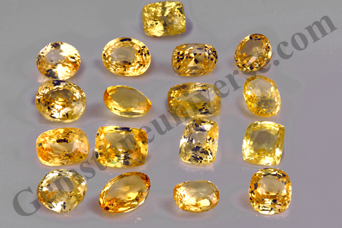 Unheated Premium Ceylon Yellow Sapphires Lot Golden river 2011 Gemstoneuniverse