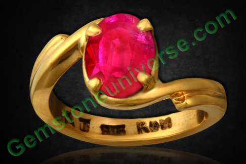 Burma Ruby of 2.12 Carats (Natural and Unheated) Gemstoneuniverse.com