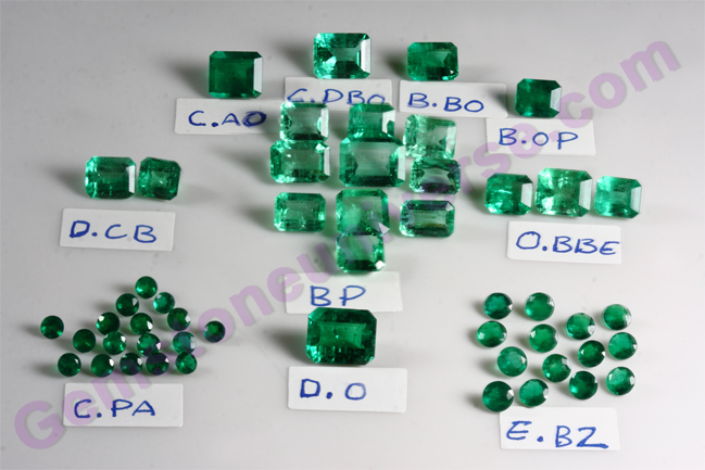 Natural Colombian Emerald Lot - Bona Fortuna - 2011. Gemstoneuniverse.com