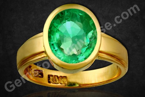 Natural Zambian Emerald 2.50-carats-Check Video for Minimum acceptable clarity for Jyotish purposes.