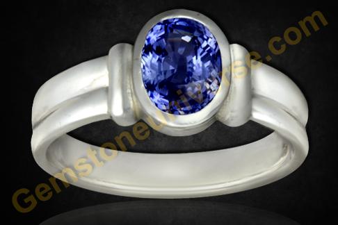 Blue Sapphire Neelam of 2.99 Carats Gemstoneuniverse.com
