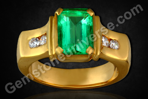Natural Emerald of 2.27 carats (Unenhanced Colombian )Gemstoneuniverse.com