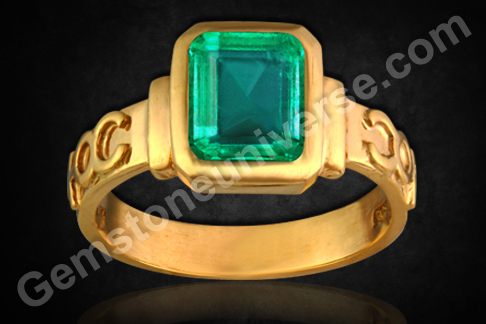 Natural Emerald of 2.50 carats (Unenhanced Colombian )Gemstoneuniverse.com