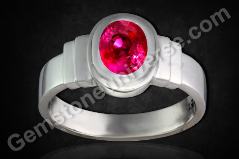 Natural Ruby of 1.97 Carats (Unheated Tanzania) Gemstoneuniverse.com