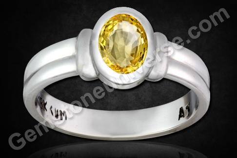 Natural Yellow Sapphire of 2.03 carats Gemstoneuniverse.com