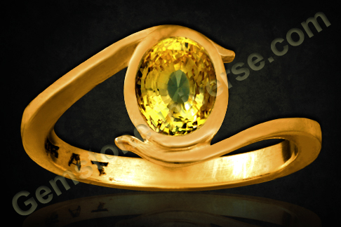 Yellow Sapphire ring of 2.53 carats Gemstoneuniverse.com
