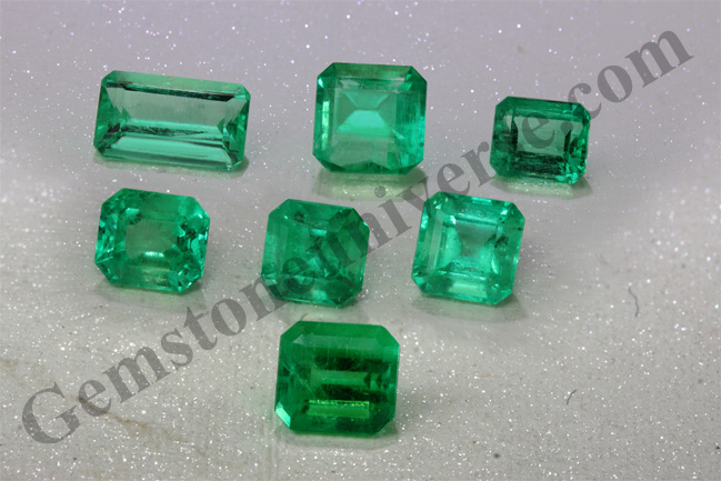 Colombian Emeralds with Over 90% clarity for Vedic Mercury Energies!