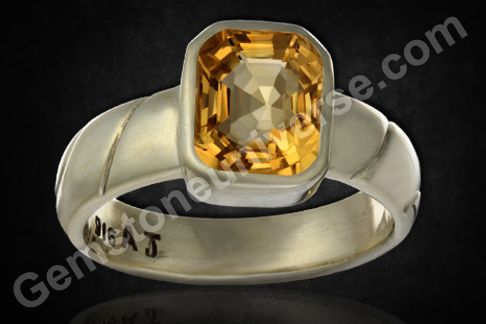 Imperial Golden Yellow Topaz of 4.46 carats for Jupiter Vedic Energies