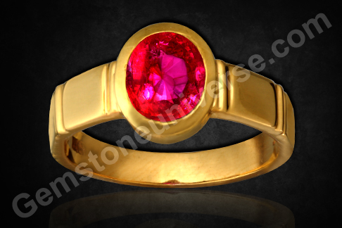 Natural Ruby of 1.60 Carats (Unheated Tanzania) Gemstoneuniverse.com