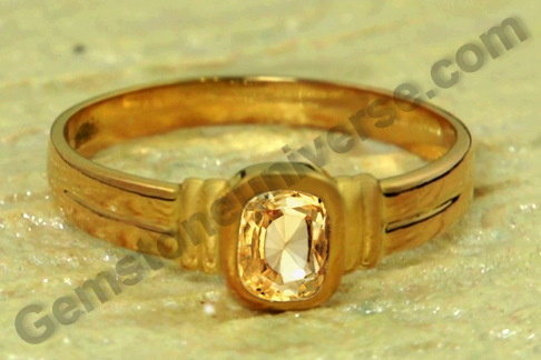 Natural Untreated Ceylon Yellow Sapphire of 1.56 carats Gemstoneuniverse.com