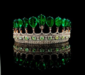 Rare Emerald and Diamond Tiara